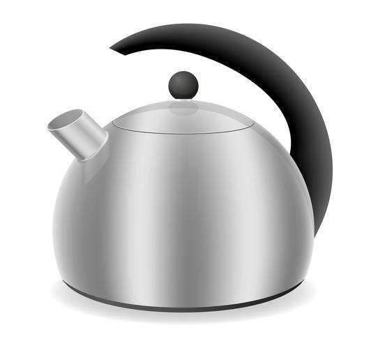 bouilloire pour illustration vectorielle cuisinière à gaz