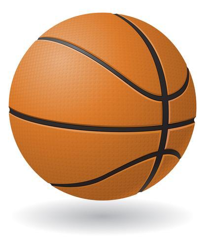 Basketball-Ball-Vektor-Illustration vektor