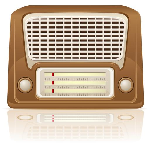 retro radio vectorillustratie