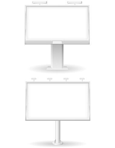 bilboard en blanco para publicidad y anuncios ilustración vectorial