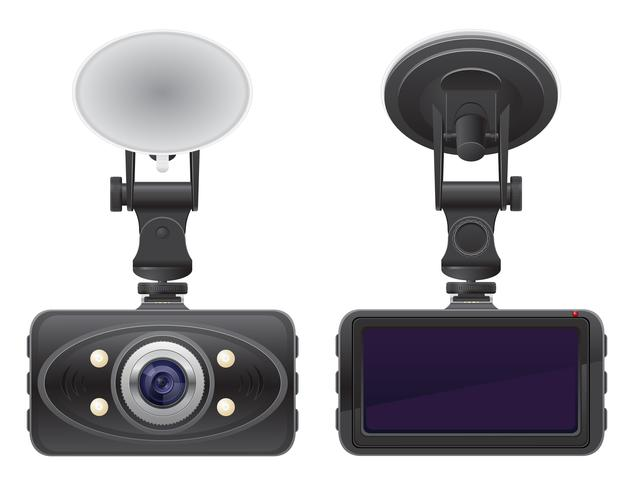 illustrazione vettoriale di registratore auto