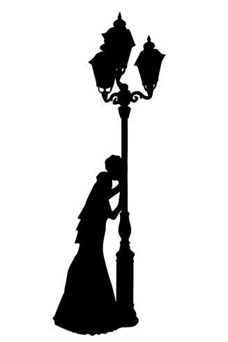 Ilustración de vector de silueta realista de novia