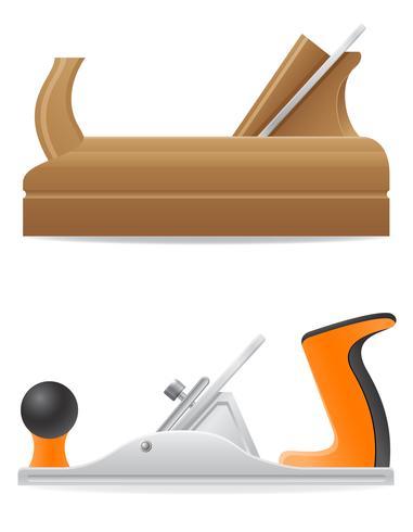 Herramienta de madera y metal plano ilustración vectorial