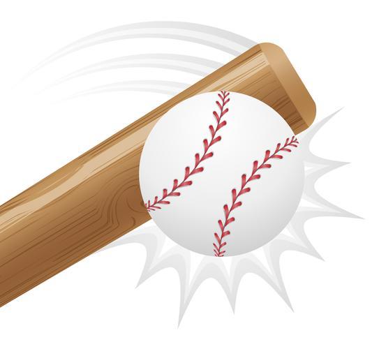 baseball boll och bit vektor illustration