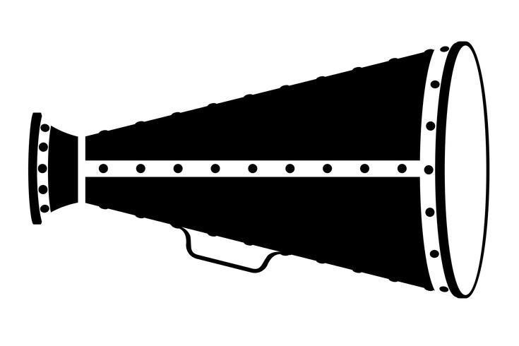 mégaphone vieux rétro vintage icône illustration vectorielle stock