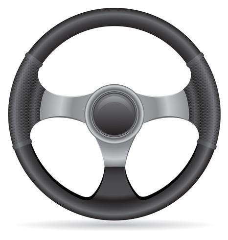 illustrazione di vettore del volante dell'automobile
