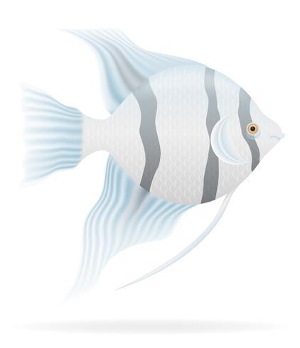 illustration vectorielle de poissons d'aquarium