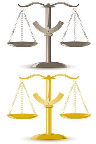 justice scale vector illustration
