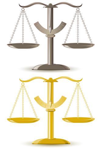 Ilustración de vector de escala de justicia