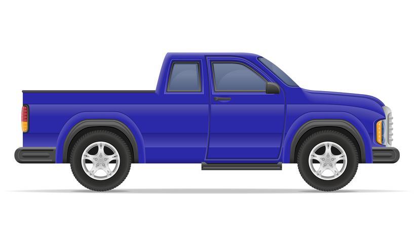 Auto-Pickup-Vektor-Illustration