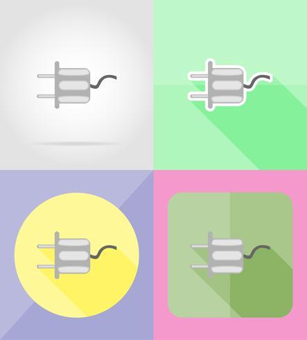 servizio icone piatte illustrazione vettoriale di potere