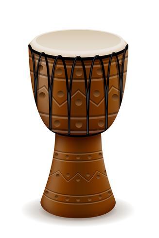Tambor africano instrumentos musicales stock vector ilustración