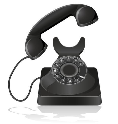 oude telefoon vectorillustratie
