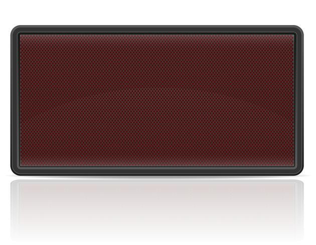 illustrazione di vettore del tabellone segnapunti digitale del pannello principale