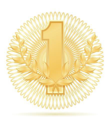 laureat krans vinnare sport guld lager vektor illustration