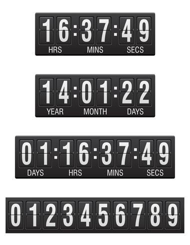 scoreboard countdown timer vector illustration