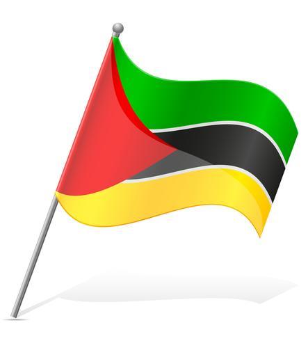 Bandera de Mozambique ilustración vectorial vector