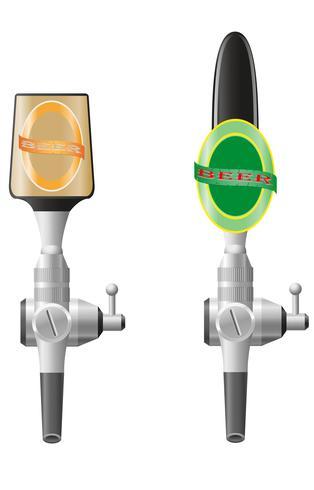 illustrazione vettoriale di birra attrezzature
