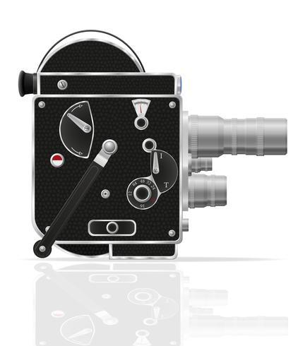 illustration vectorielle de vieux rétro vintage film caméra vidéo