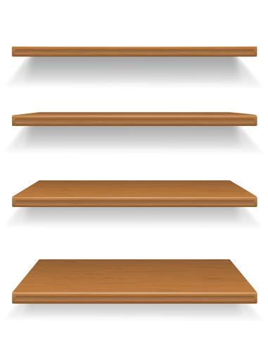 illustrazione vettoriale scaffali in legno