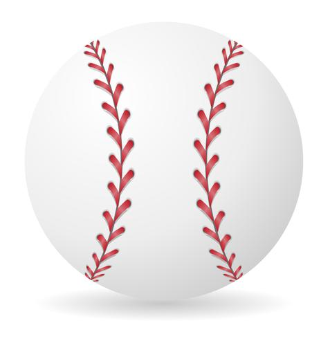 illustrazione vettoriale palla da baseball