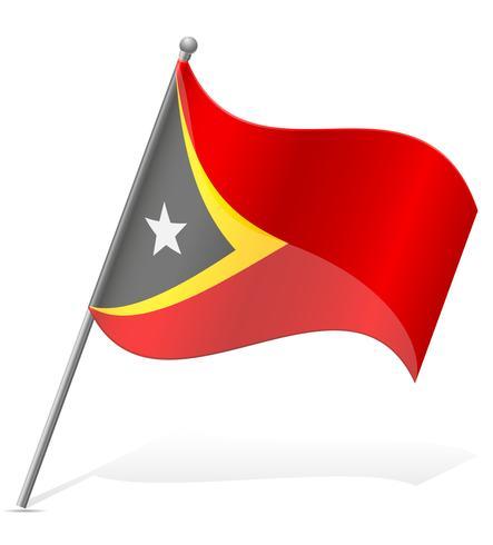 drapeau de l'illustration vectorielle du Timor oriental vecteur