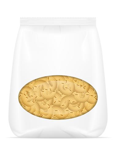 Pasta en ilustración vectorial de embalaje
