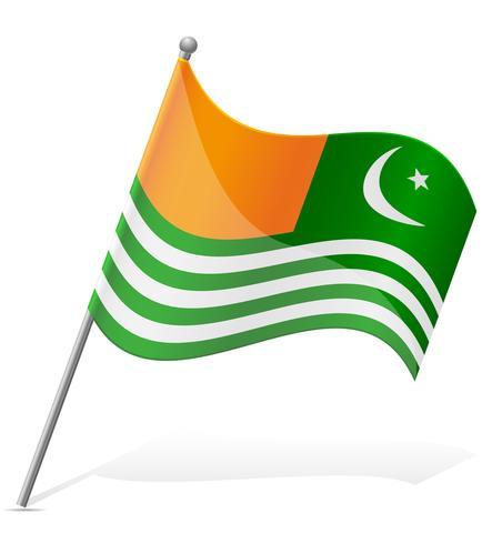 Bandeira de Azad Caxemira ilustração vetorial