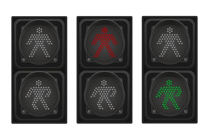 semáforo para peatones ilustración vectorial