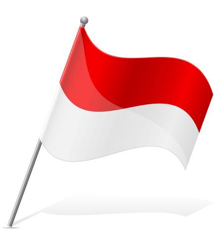 Bandera de Mónaco ilustración vectorial vector