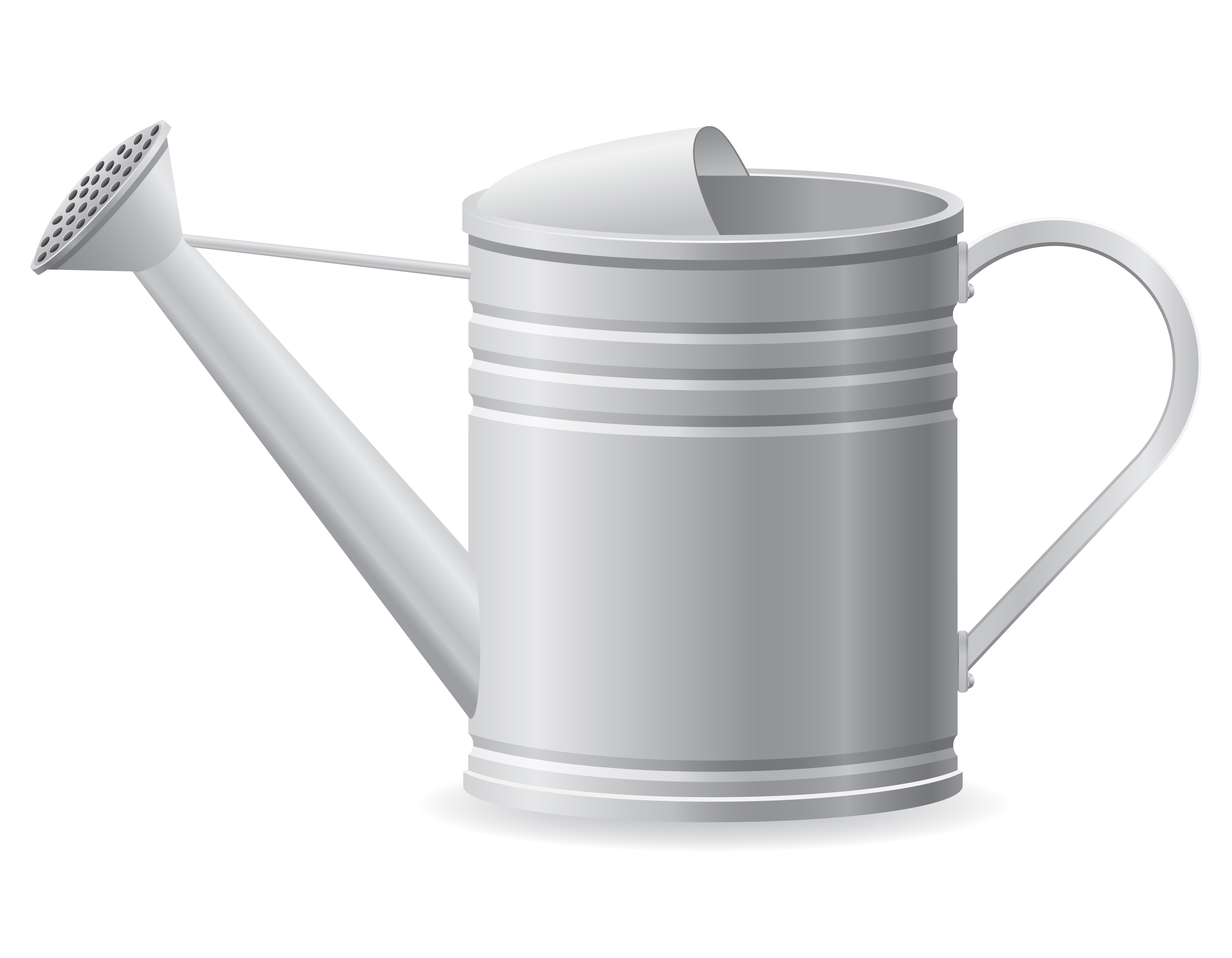 metal watering can vector illustration - Download Free ...