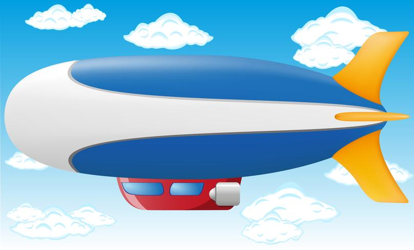 illustration vectorielle zeppelin