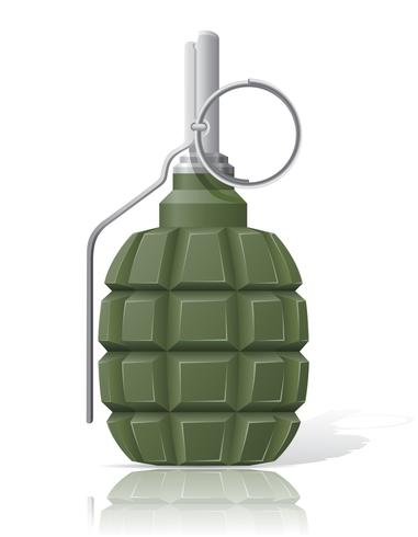 Ilustración de vector de granada de mano