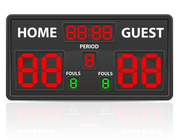 basketball sports digital scoreboard vector illustration