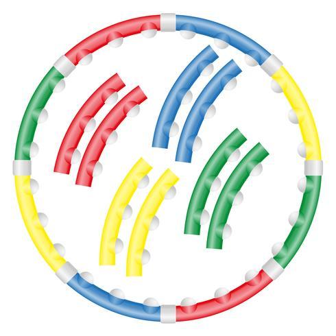 cerchio dinamico di salute per l'illustrazione di vettore di forma fisica