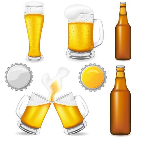 Satz von Bier-Vektor-Illustration