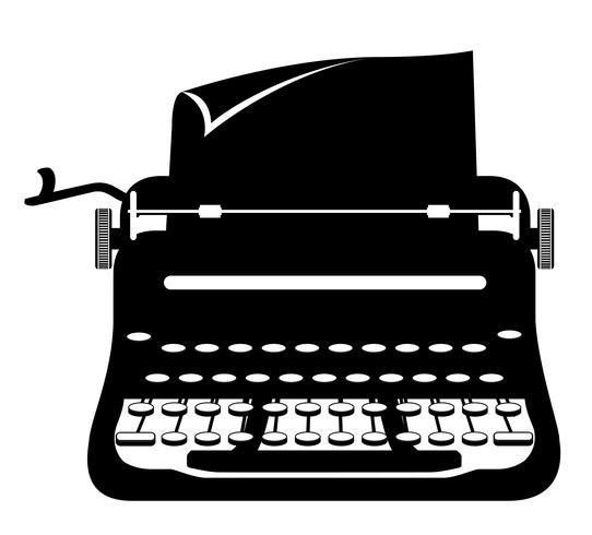 machine à écrire vieux rétro vintage icône illustration vectorielle stock