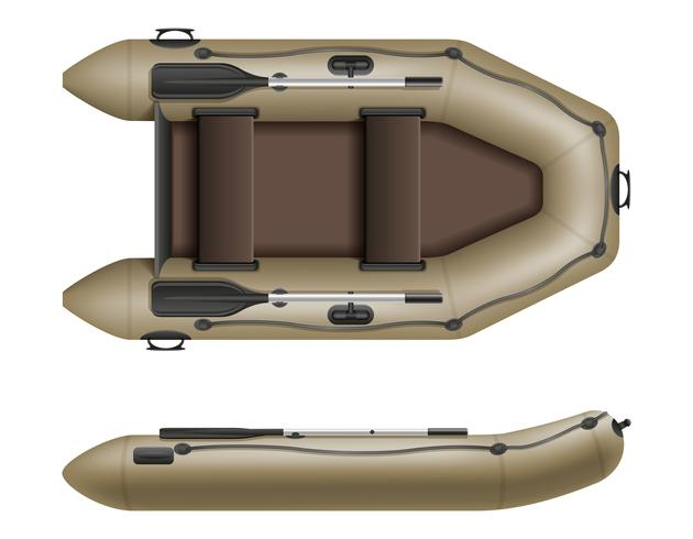 inflatable rubber boat for fishing and tourism vector illustration
