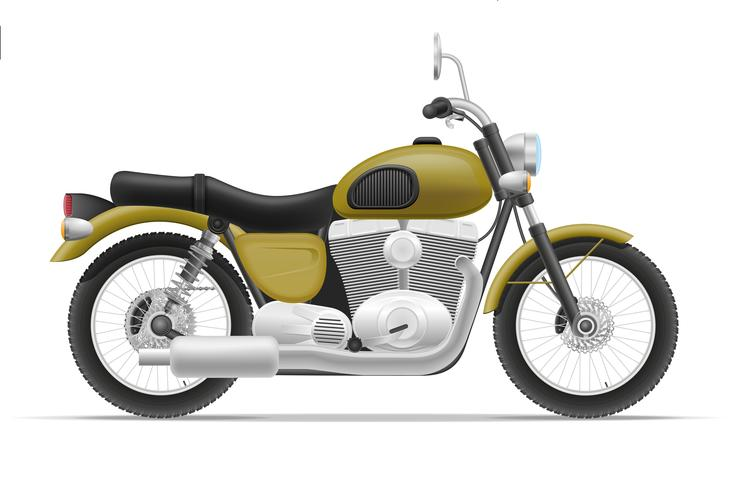 Motorrad-Vektor-Illustration
