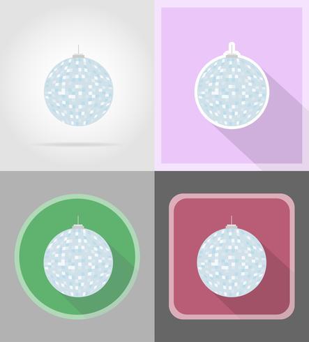 palla da discoteca per icone piane celebrazione illustrazione vettoriale