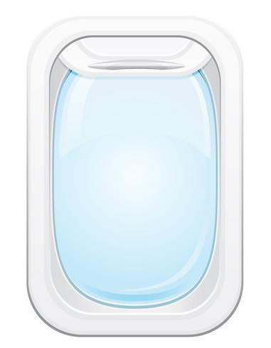 plane porthole vector illustration