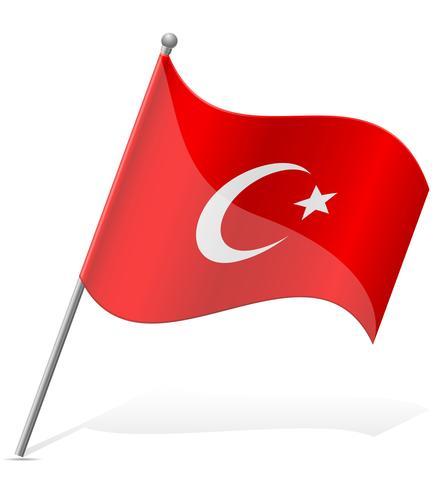 bandeira da ilustração vetorial de Turquia