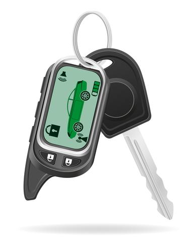 allarme auto a distanza con le chiavi dell'automobile illustrazione vettoriale