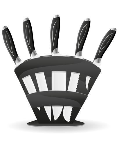 conjunto de faca para a ilustração do vetor de cozinha