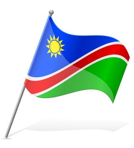 Bandera de Namibia ilustración vectorial