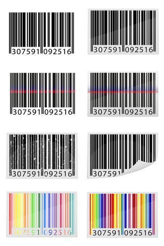 illustrazione vettoriale di icone codice a barre