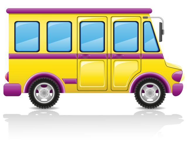 ilustración vectorial de autobús