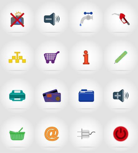 service flat icons vector illustration