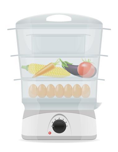 illustrazione vettoriale di caldaia elettrica doppia cucina