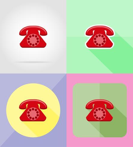 phone service flat icons vector illustration